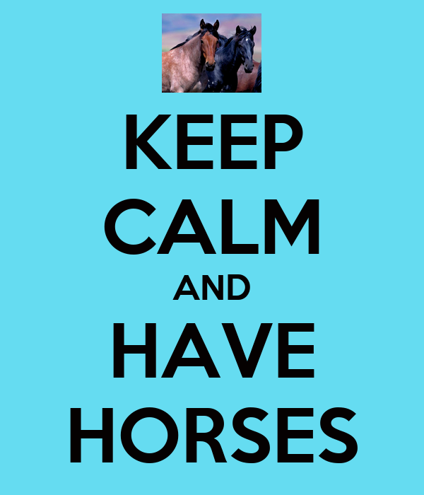 KEEP CALM AND HAVE HORSES