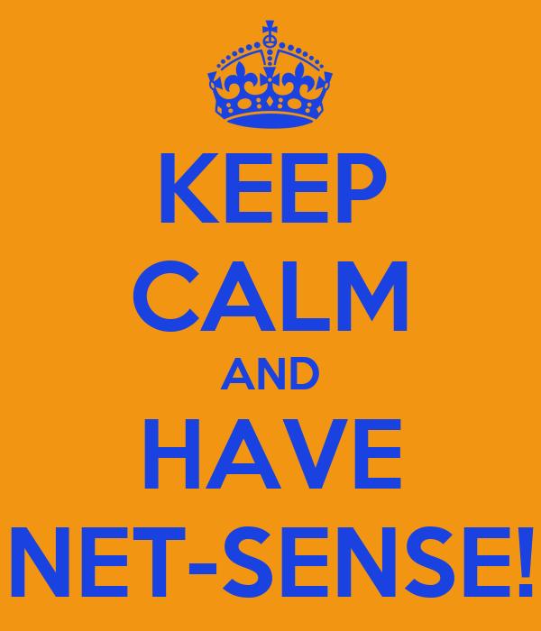 KEEP CALM AND HAVE NET-SENSE!