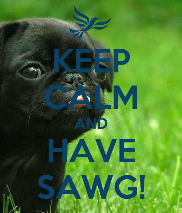 KEEP CALM AND HAVE SAWG!