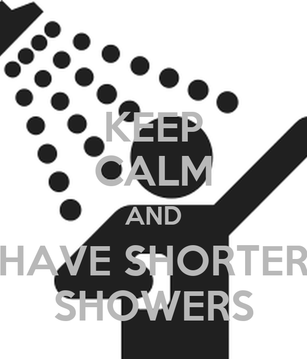 KEEP CALM AND HAVE SHORTER SHOWERS