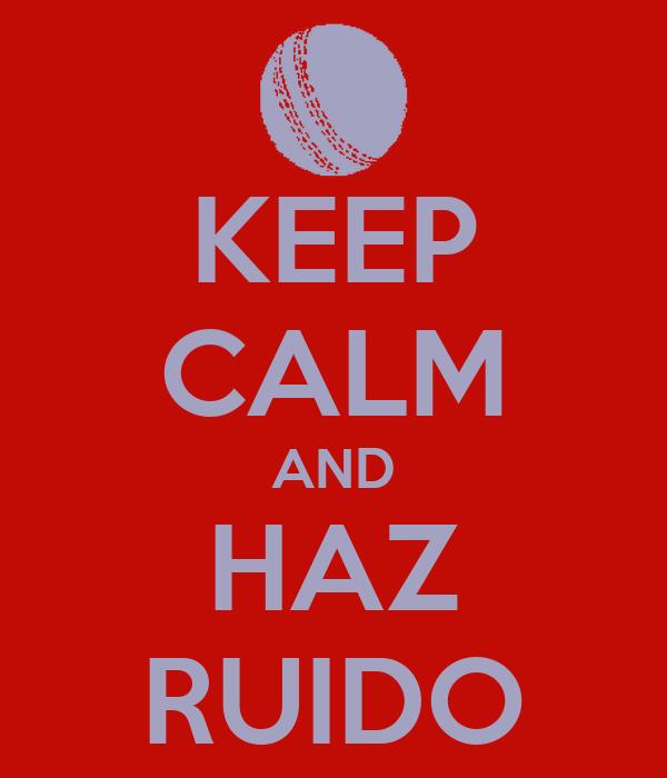 KEEP CALM AND HAZ RUIDO