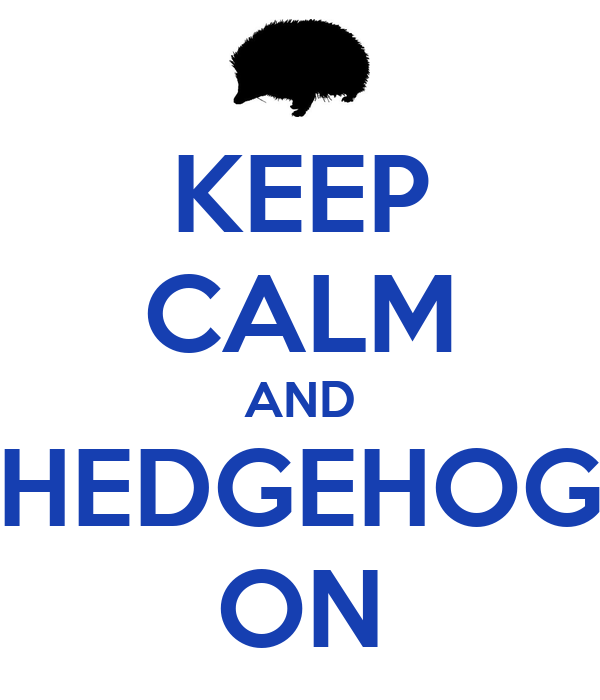 KEEP CALM AND HEDGEHOG ON