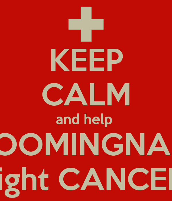 KEEP CALM and help  BLOOMINGNAILZ fight CANCER