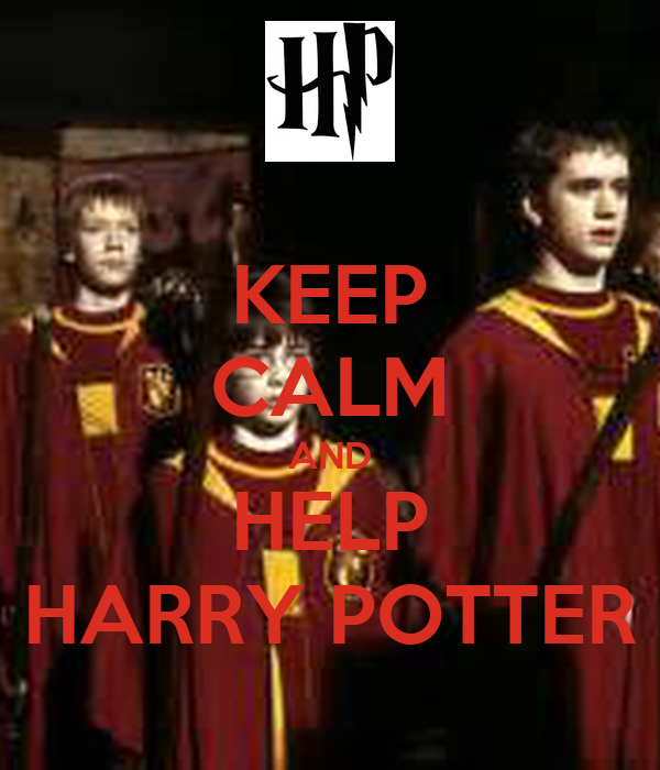 keep calm and help harry potter poster sassygoogle1