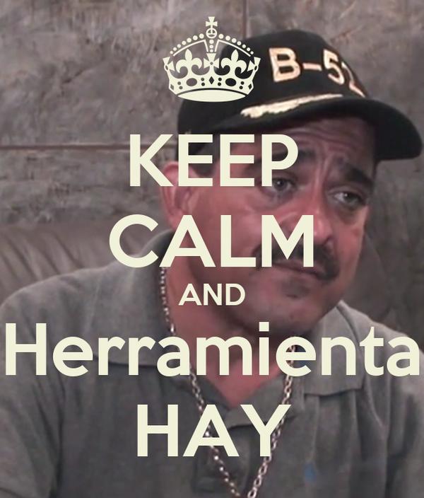 KEEP CALM AND Herramienta HAY