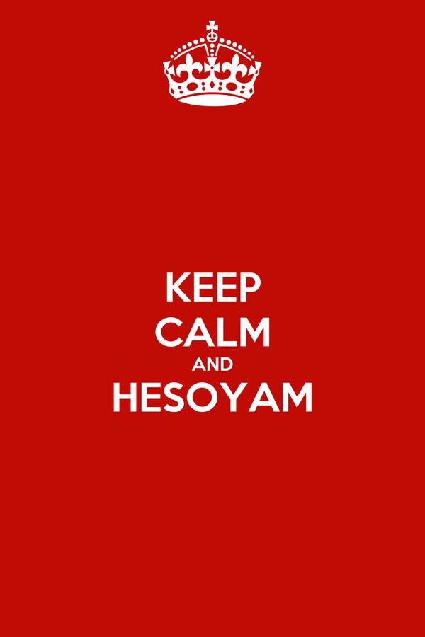 KEEP CALM AND HESOYAM