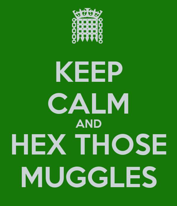 KEEP CALM AND HEX THOSE MUGGLES
