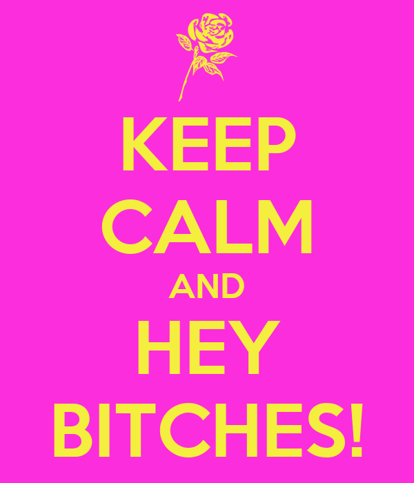 KEEP CALM AND HEY BITCHES!