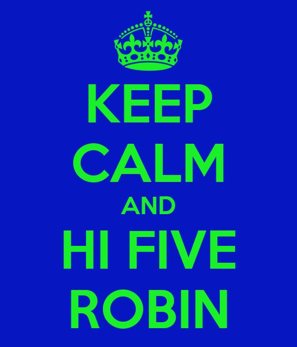 KEEP CALM AND HI FIVE ROBIN