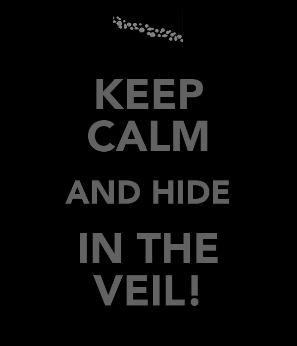 KEEP CALM AND HIDE IN THE VEIL!