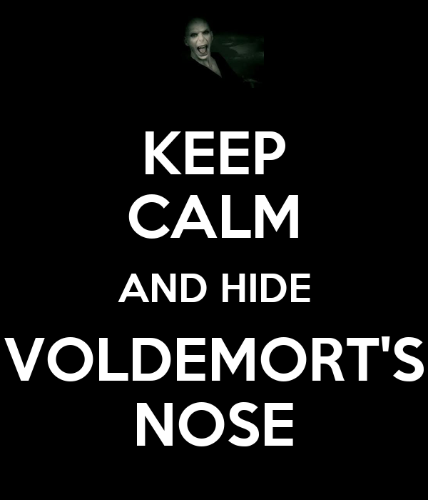 KEEP CALM AND HIDE VOLDEMORT'S NOSE