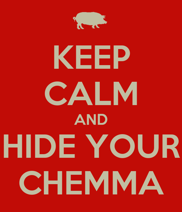 KEEP CALM AND HIDE YOUR CHEMMA