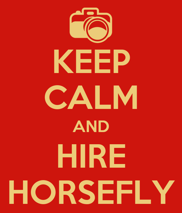 KEEP CALM AND HIRE HORSEFLY