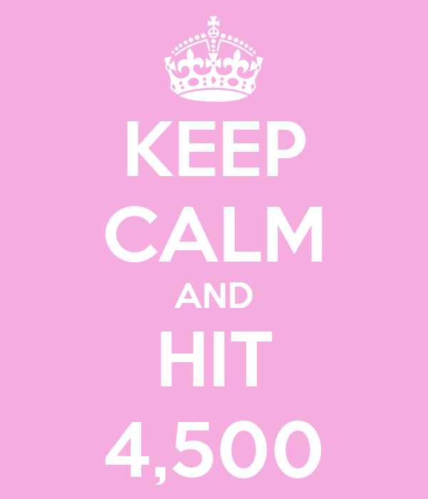 KEEP CALM AND HIT 4,500