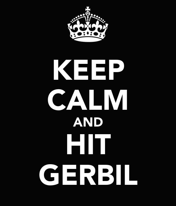 KEEP CALM AND HIT GERBIL