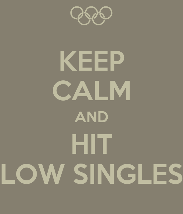 KEEP CALM AND HIT LOW SINGLES
