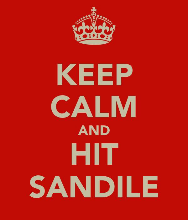 KEEP CALM AND HIT SANDILE