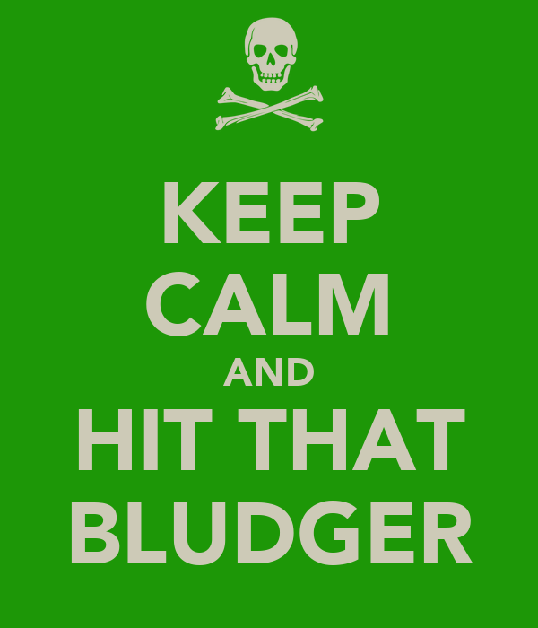 KEEP CALM AND HIT THAT BLUDGER