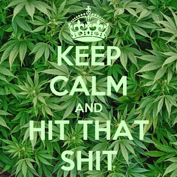 KEEP CALM AND HIT THAT SHIT