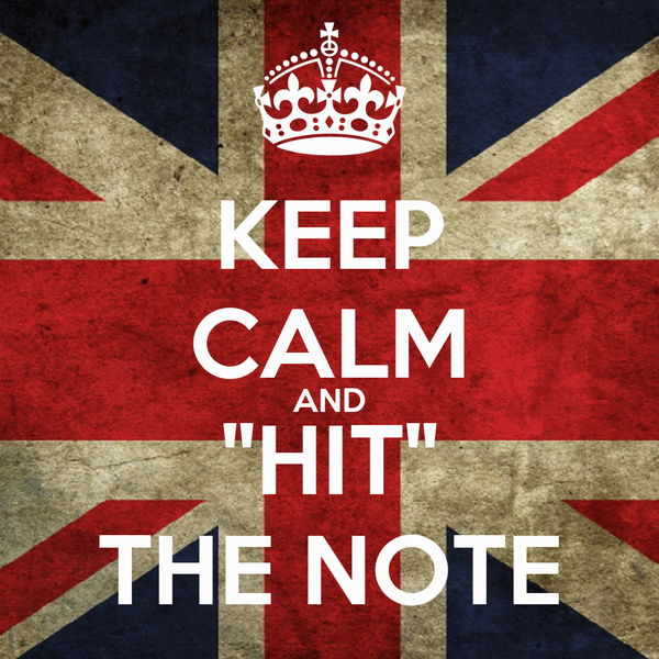"KEEP CALM AND ""HIT"" THE NOTE"