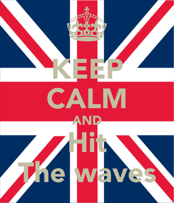 KEEP CALM AND Hit The waves