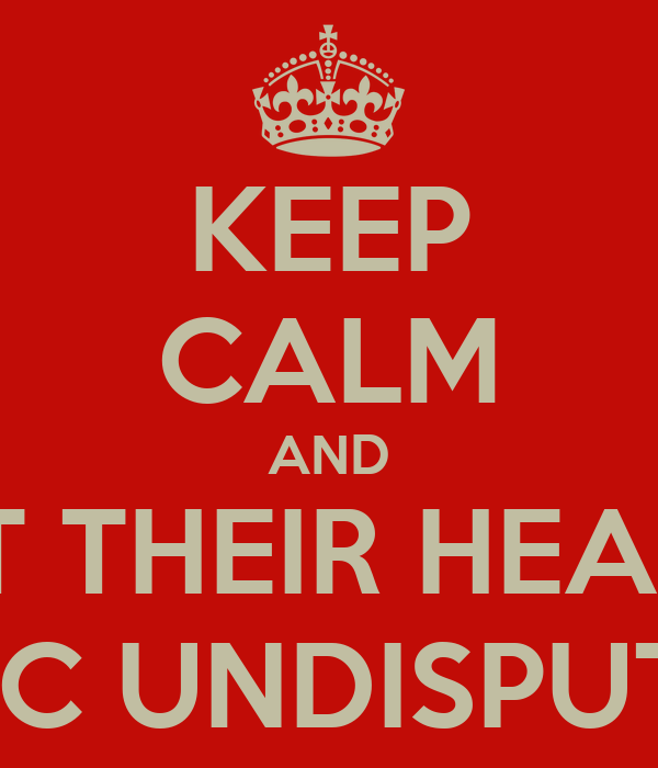 KEEP CALM AND HIT THEIR HEADS IN UFC UNDISPUTED 3