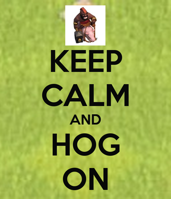 KEEP CALM AND HOG ON