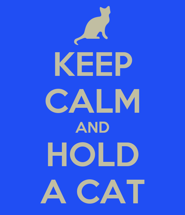 KEEP CALM AND HOLD A CAT