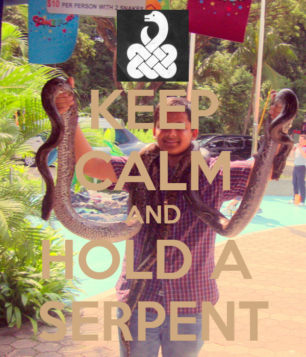 KEEP CALM AND HOLD A  SERPENT