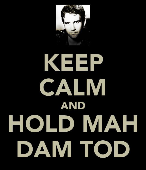 KEEP CALM AND HOLD MAH DAM TOD