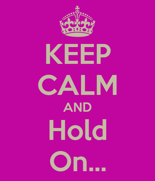 KEEP CALM AND Hold On...