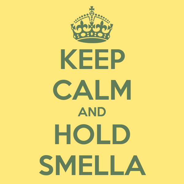 KEEP CALM AND HOLD SMELLA