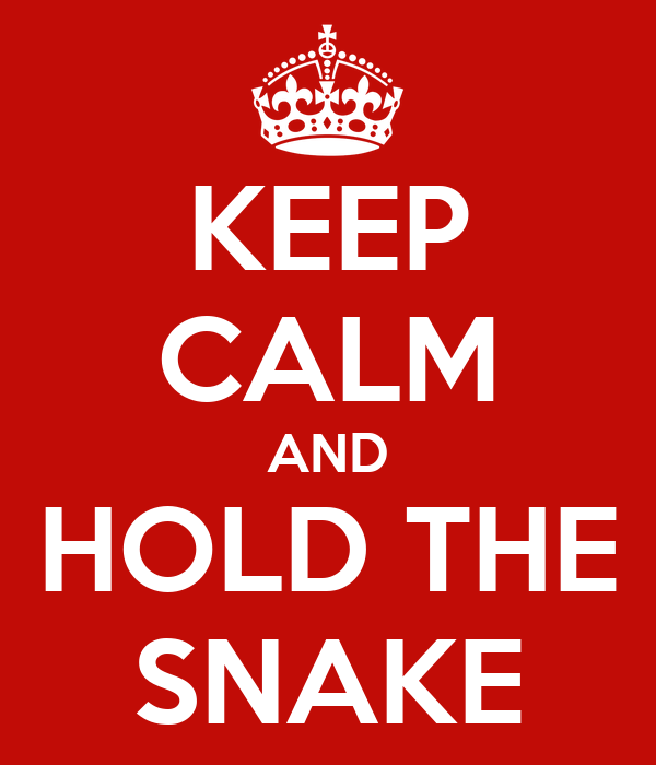KEEP CALM AND HOLD THE SNAKE