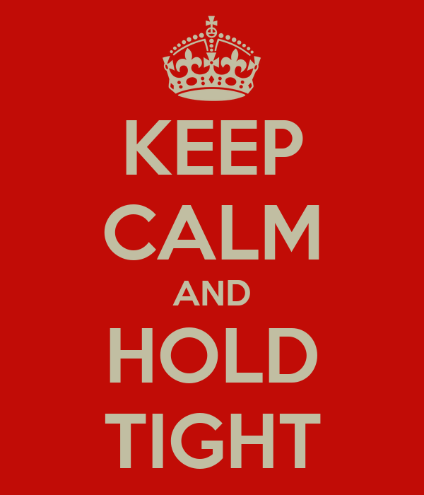 KEEP CALM AND  HOLD  TIGHT