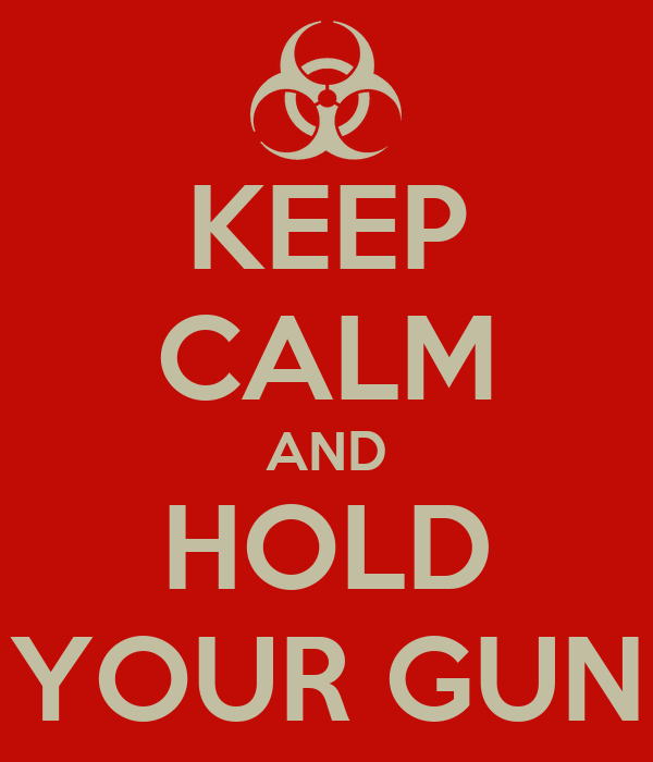 KEEP CALM AND HOLD YOUR GUN
