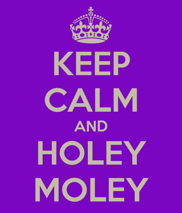 KEEP CALM AND HOLEY  MOLEY