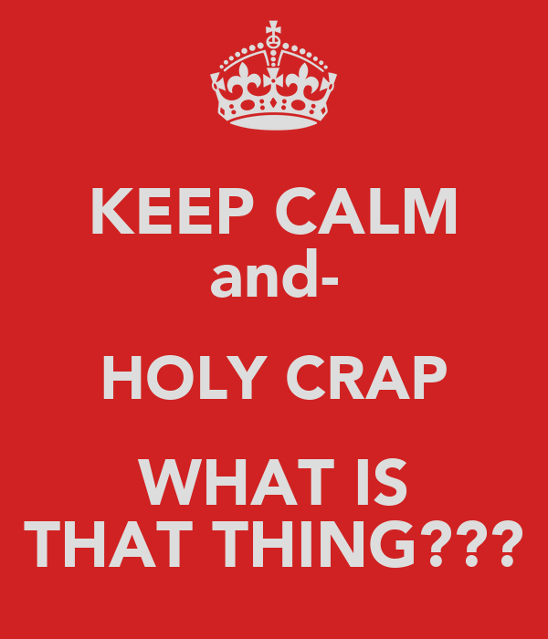 KEEP CALM and- HOLY CRAP WHAT IS THAT THING???