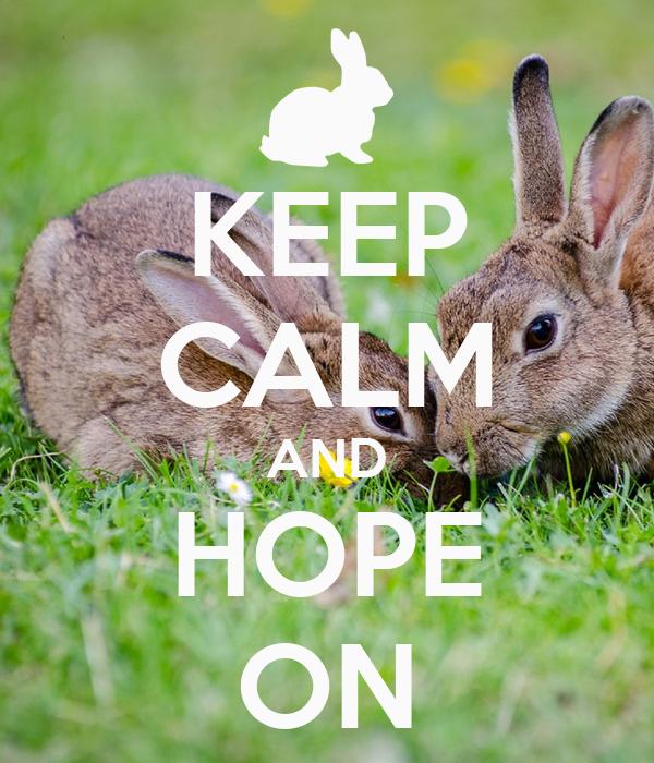 KEEP CALM AND HOPE ON