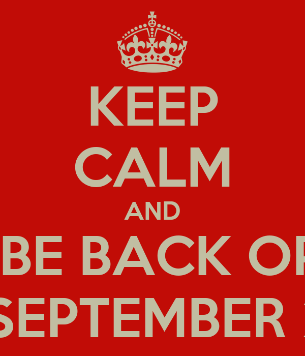 KEEP CALM AND HOT LOCKS WILL BE BACK OPEN ON MONDAY  3rd SEPTEMBER 2012