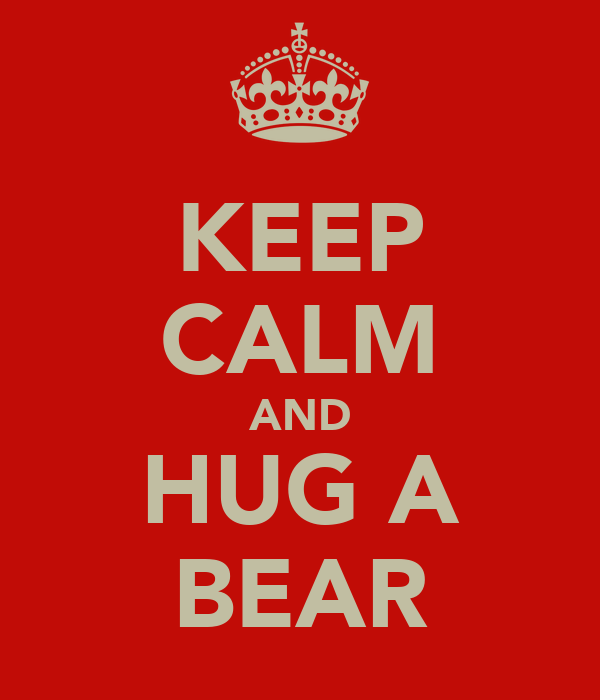 KEEP CALM AND HUG A BEAR