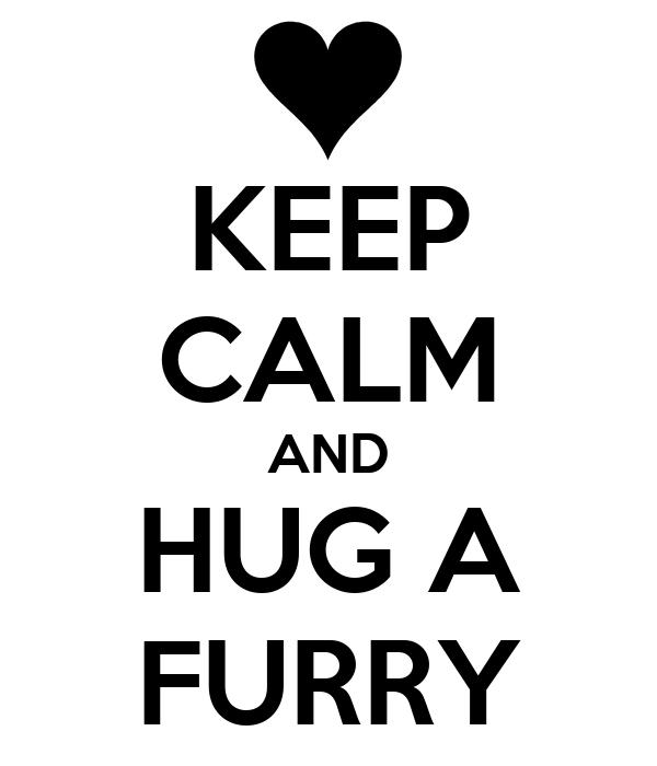 KEEP CALM AND HUG A FURRY