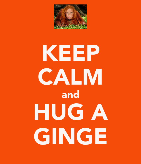 KEEP CALM and HUG A GINGE