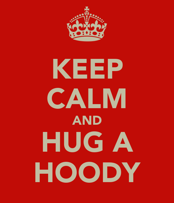 KEEP CALM AND HUG A HOODY