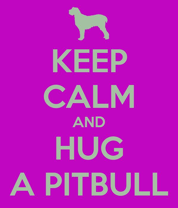 KEEP CALM AND HUG A PITBULL