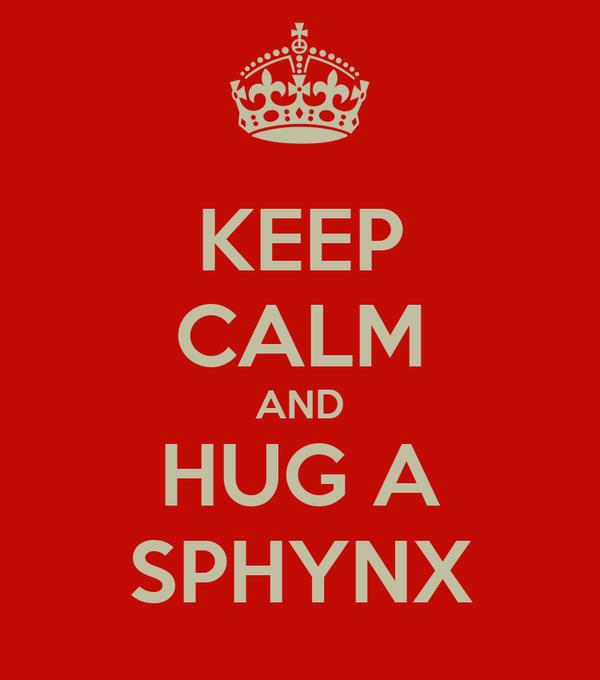 KEEP CALM AND HUG A SPHYNX