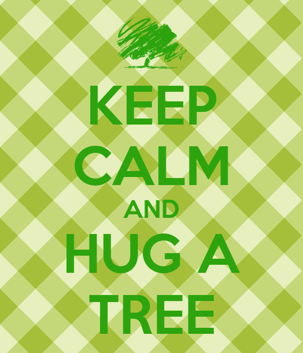 KEEP CALM AND HUG A TREE