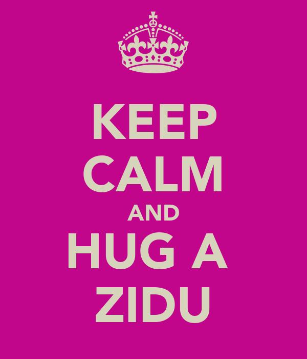 KEEP CALM AND HUG A  ZIDU