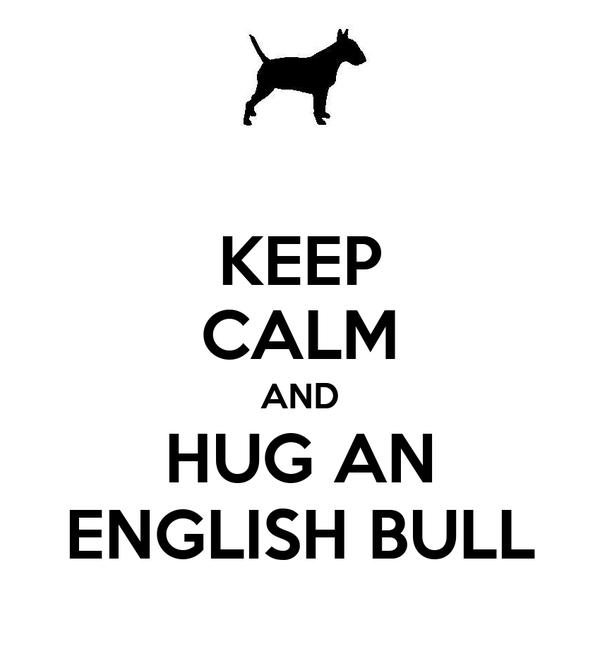 KEEP CALM AND HUG AN ENGLISH BULL