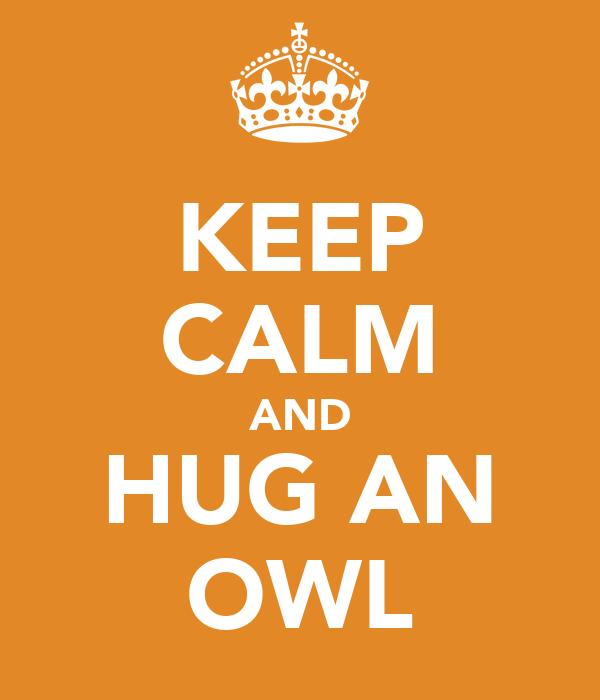 KEEP CALM AND HUG AN OWL