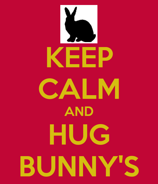 KEEP CALM AND HUG BUNNY'S